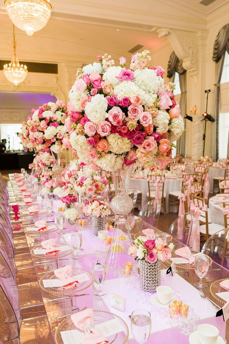Pink and White Wedding Decor Lovely Contemporary Wedding Table Accessories and Decoration Using Cute Wedding Centerpiece Simple