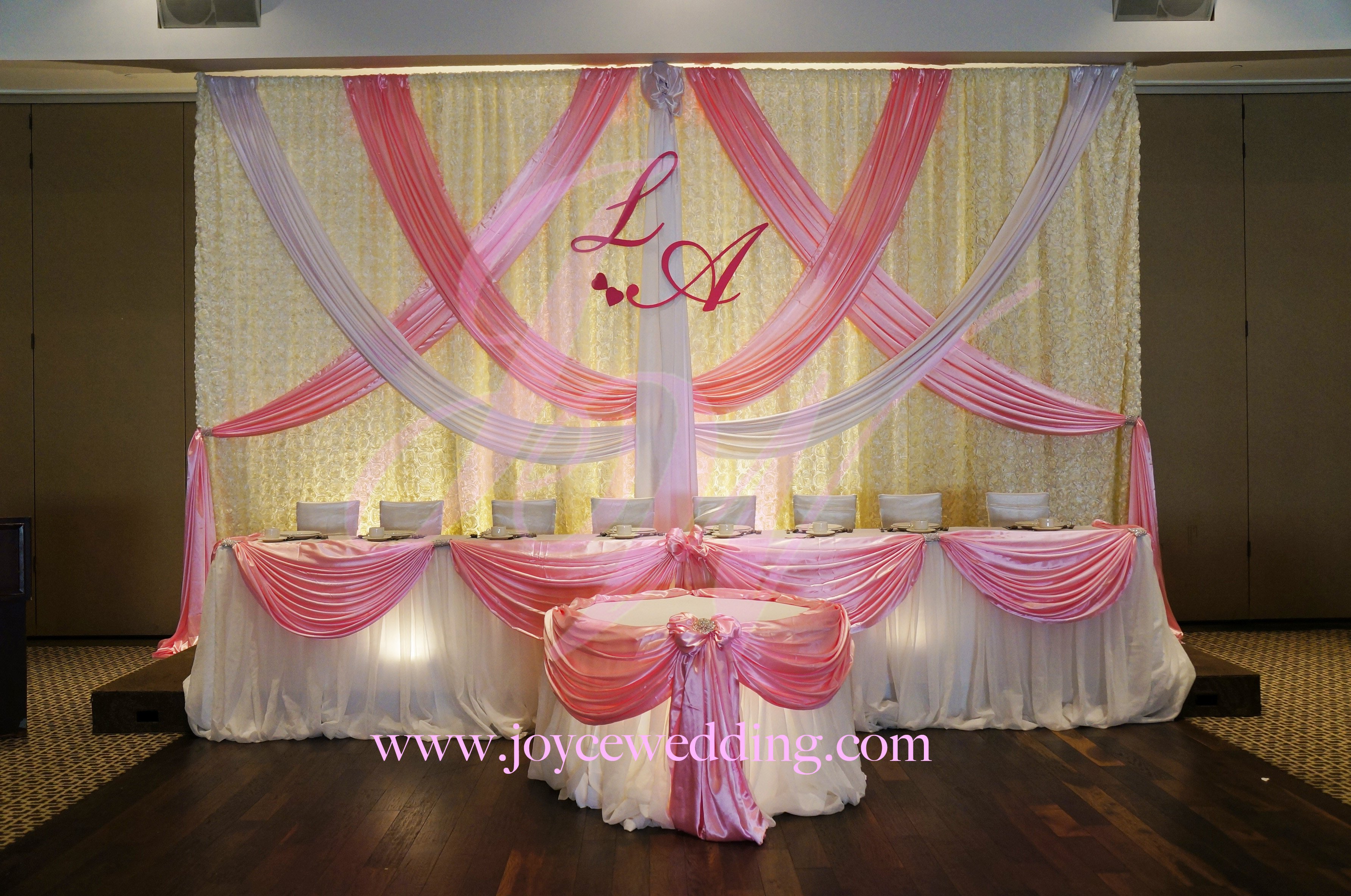 Pink and White Wedding Decor Lovely Pink and White Wedding Decoration