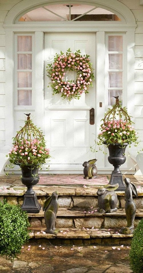 Porch Decor Ideas for Spring Awesome 45 Front Easter Porch Decoration Inspirations Godfather Style