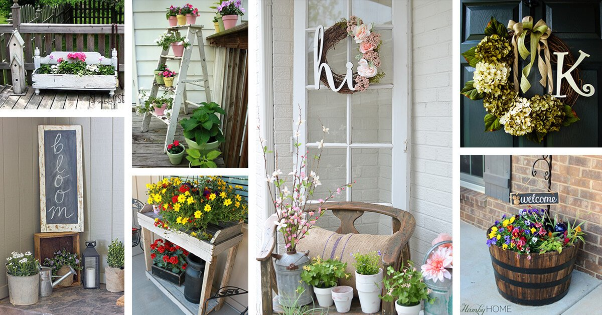 Porch Decor Ideas for Spring Beautiful 30 Best Rustic Spring Porch Decor Ideas and Designs for 2019