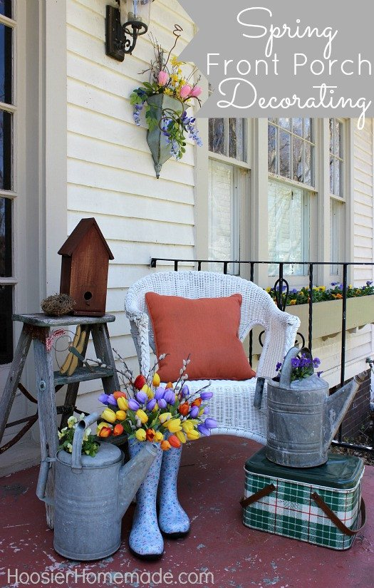 Porch Decor Ideas for Spring Inspirational Spring Front Porch Decorating Hoosier Homemade