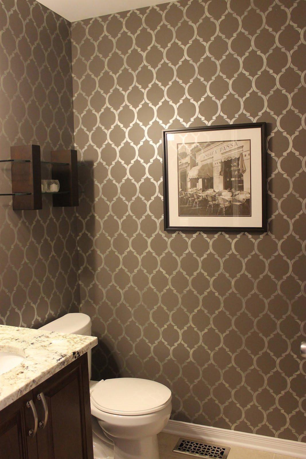 Powder Room Wall Decor Ideas Elegant Km Decor Powder Room Reveal