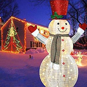 Pre Lit Snowman Outdoor Decor Awesome Amazon 60'' Led Popup Snowman Outdoor Collapsible Lighted Snowman Christmas Yard