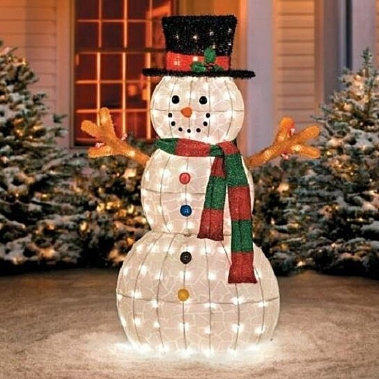 "Pre Lit Snowman Outdoor Decor Awesome Buy Sale 48"" Outdoor Lighted Pre Lit Snowman Sculpture Christmas Yard Art Decor by Opensky"
