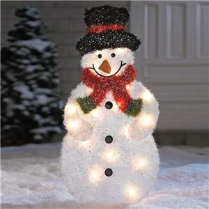 Pre Lit Snowman Outdoor Decor Awesome Lighted Pre Lit Outdoor Frosty Snowman Christmas Holiday Yard Art Decoration