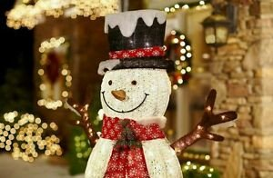 Pre Lit Snowman Outdoor Decor Beautiful 6 Ft Pre Lit Large Snowman Sculpture Christmas Holiday In Outdoor Yard Decor