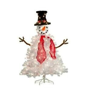 Pre Lit Snowman Outdoor Decor Fresh 5 Foot Lighted Pre Lit Frosty Snowman Christmas Tree Outdoor Holiday Yard Decor