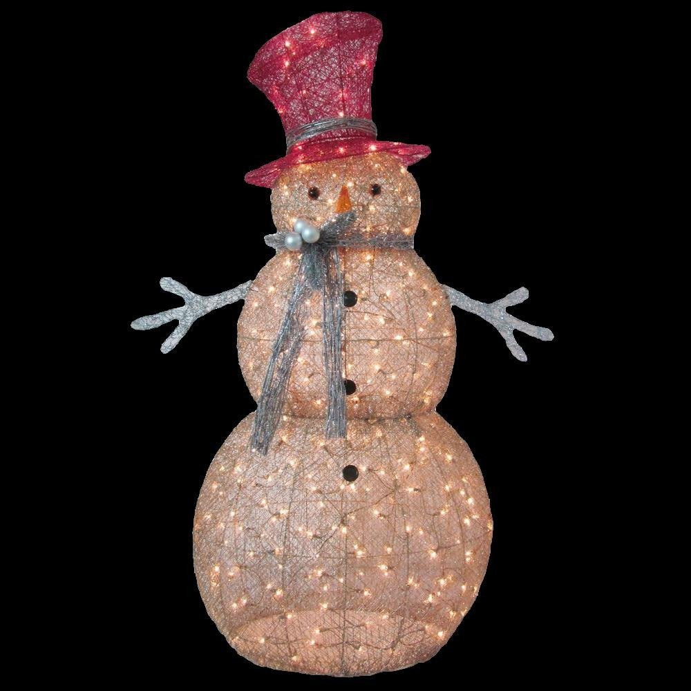 Pre Lit Snowman Outdoor Decor Lovely Home Accents Holiday 5 Ft Pre Lit Gold Snowman Ty364 1411 the Home Depot