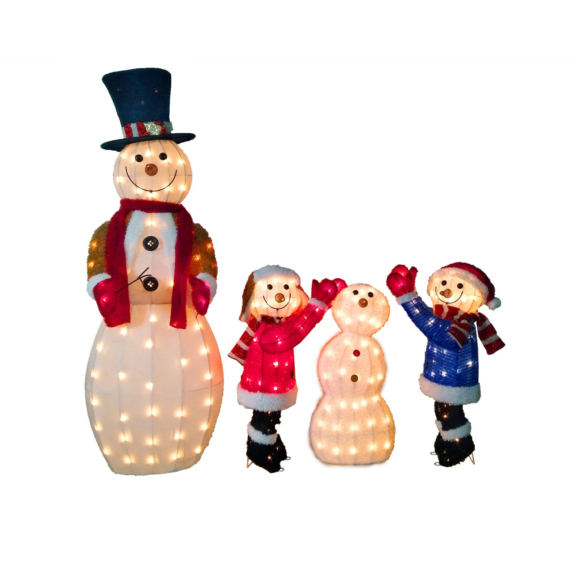 "Pre Lit Snowman Outdoor Decor Luxury 52"" Snowman Family Pre Lit Outdoor Christmas Yard Decoration Festive Home Decor"