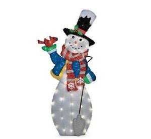 Pre Lit Snowman Outdoor Decor New Sale 4 Foot Outdoor Lighted Pre Lit Christmas Snowman Holiday Yard Art Decor