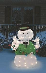 "Pre Lit Snowman Outdoor Decor Unique Outdoor Pre Lit Sam the Snowman Christmas Decoration 32"" Lighted Rudolph Decor"