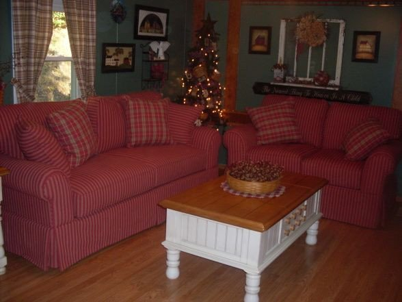 Primitive Small Living Room Ideas Beautiful Red Checked Primitive Couch