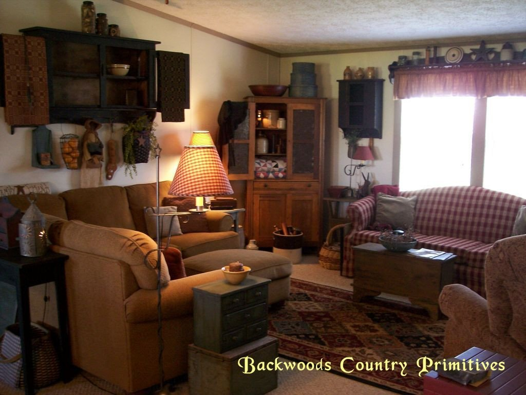 Backwoods Country Primitives Living Room Pinterest
