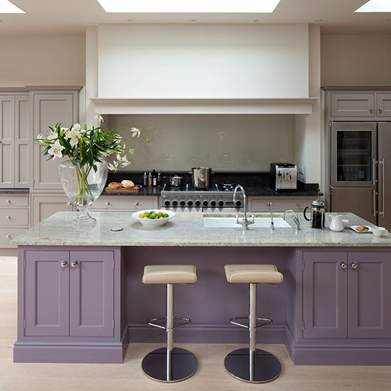 Purple and Black Kitchen Decor Best Of Glamorous Grey and Purple Kitchen with island Kitchen Decorating