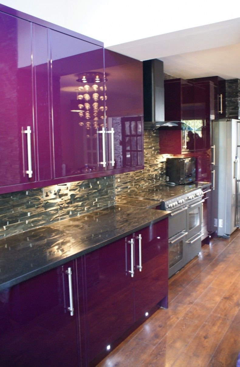 Purple and Black Kitchen Decor Best Of Purple Kitchen Cabinets On Pinterest