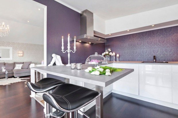 Purple and Black Kitchen Decor Fresh 15 Modern Purple Kitchen Design Ideas Style Motivation