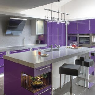Purple and Black Kitchen Decor Fresh Contemporary Modern Kitchen Purple Color Design Ideas