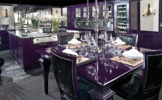 Purple and Black Kitchen Decor Fresh Luxurious Kitchen Purple