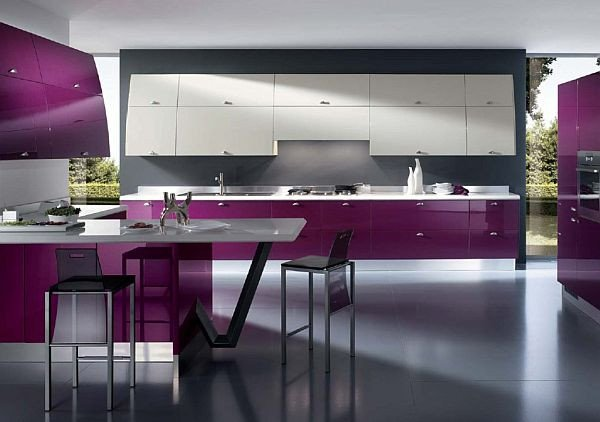 Purple and Black Kitchen Decor Luxury Purple Finishes for Kitchens with Style