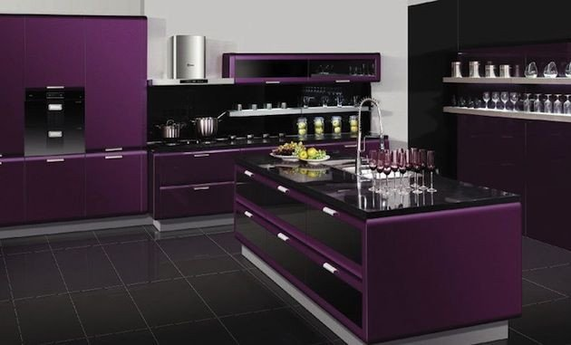 Purple and Black Kitchen Decor Luxury Purple Kitchen Omg I Love This Kitchen Ideas