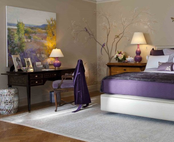 Purple and Grey Bedroom Decor Awesome Purple Bedroom Decor Ideas with Grey Wall and White Accent Home Interior and Decoration