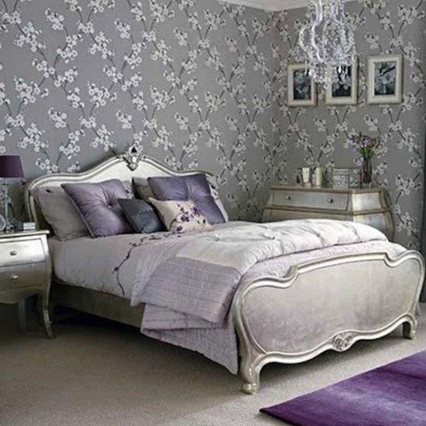 Purple and Grey Bedroom Decor Beautiful Color Scheme Purple and Silver