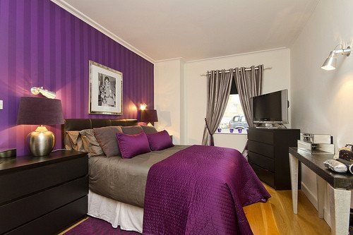 Purple and Grey Bedroom Decor Fresh Purple Bedroom Decor Ideas with Grey Wall and White Accent Home Interior and Decoration