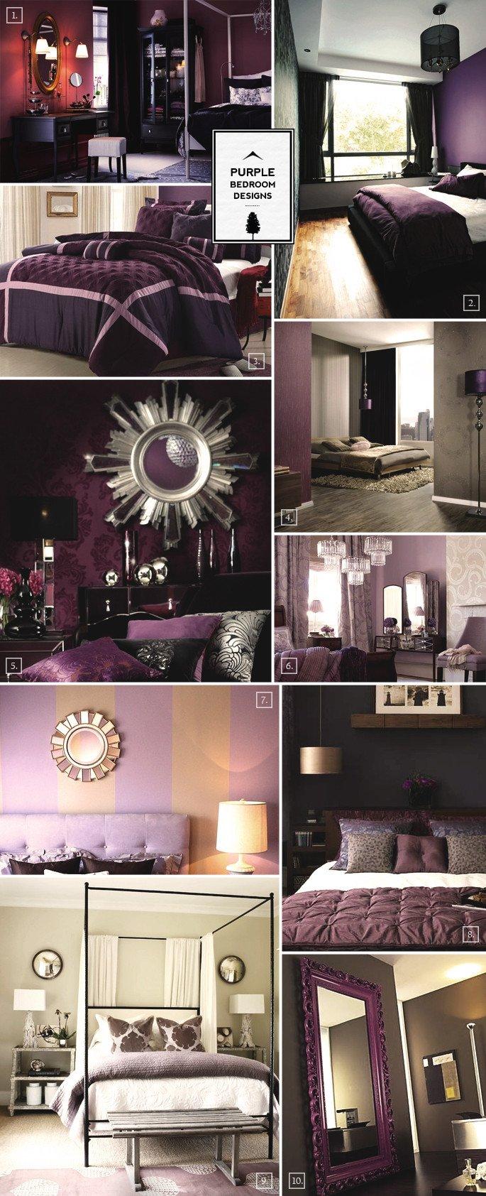 Purple and Grey Bedroom Decor Lovely Purple Bedroom Designs Inspiration Mood Board