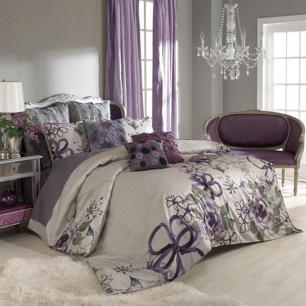 Purple and Grey Bedroom Decor Unique Purple and Grey Bedroom by Keeping the Walls A Neutral Grey You Can Add Colour and Pattern In