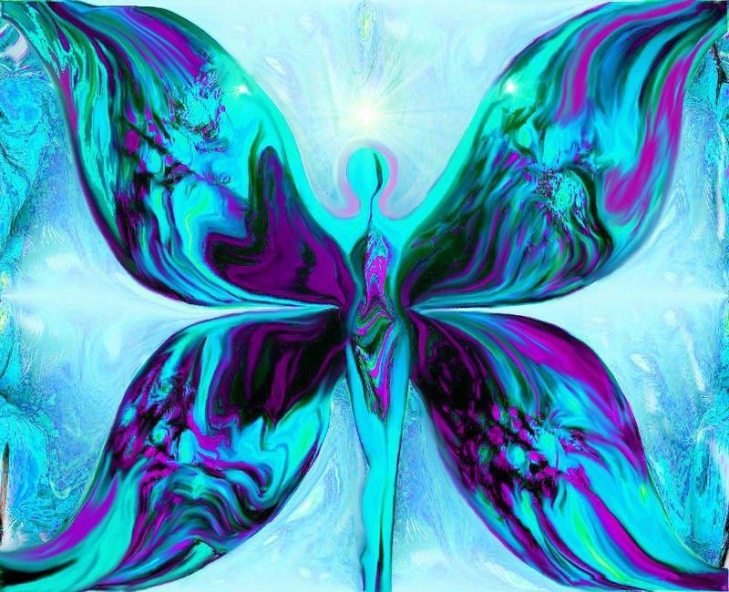 "Purple and Teal Wall Decor Best Of Blue Teal Angel Art Reiki Healing Wall Decor ""metamorphosis Awakening"" Primal Painter"