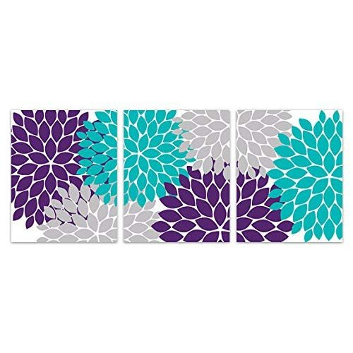 Purple and Teal Wall Decor Best Of Teal and Purple Decor Amazon