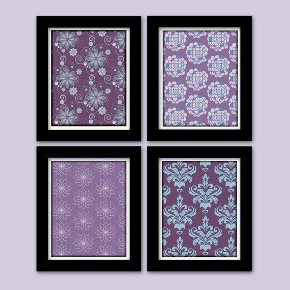Purple and Teal Wall Decor Fresh Items Similar to Purple and Teal Nursery Decor Wall Art for the Home Bathroom Decor Girls