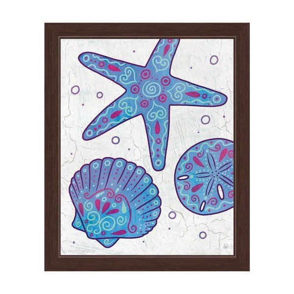 Purple and Teal Wall Decor Fresh Shop Watercolor Shells Blue Purple and Teal Framed Canvas Wall Art Sale Free Shipping