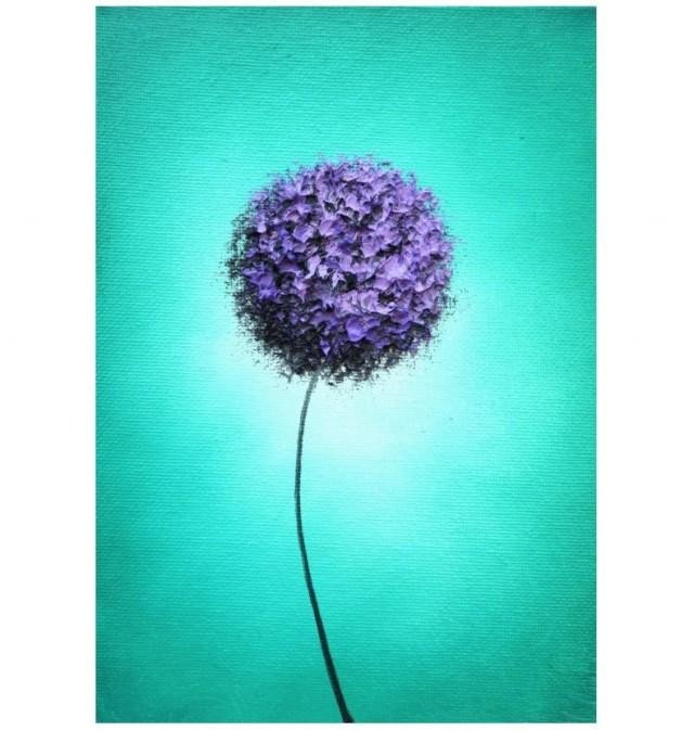 Purple and Teal Wall Decor Luxury original Painting Abstract Art Flower Painting Modern Art Purple and Teal Wall Decor Purple