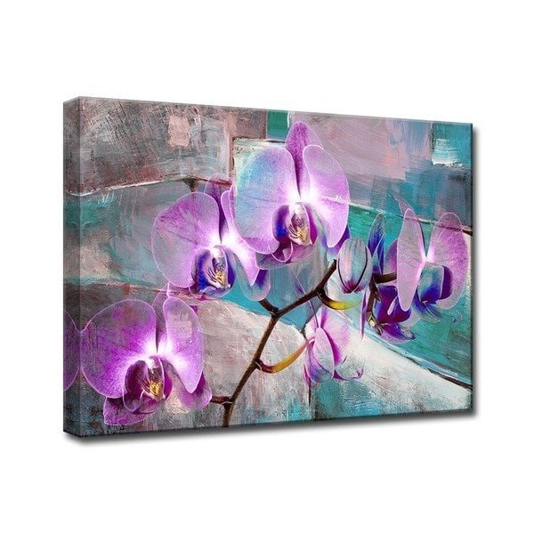 Purple and Teal Wall Decor New Shop Ready2hangart Painted Petals Xix Canvas Wall Art Purple Teal Sale Free Shipping