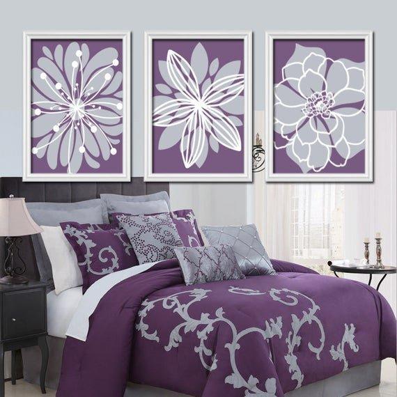 Purple Wall Decor for Bedrooms Awesome Purple Flower Wall Art Flower Burst Baby Girl Nursery Wall