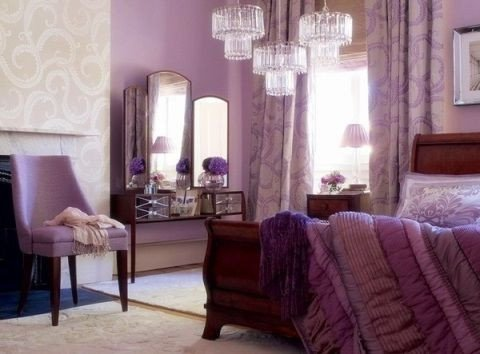 Purple Wall Decor for Bedrooms Best Of Purple Bedroom Decorating Ideas Wall Color Ivory Accents Hollywood Glamour