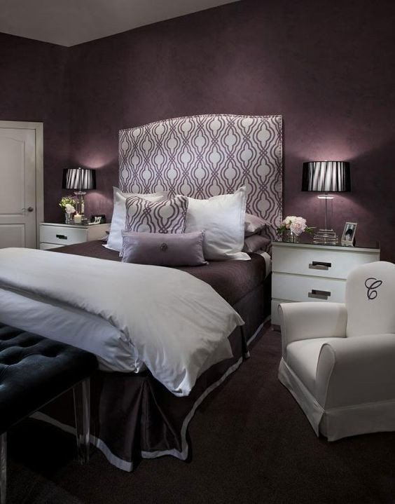 Purple Wall Decor for Bedrooms Lovely 21 Stunning Purple Bedroom Designs for Your Home