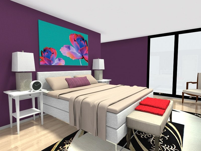 Purple Wall Decor for Bedrooms Luxury Bedroom Ideas