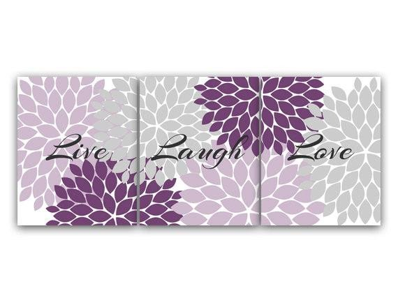 Purple Wall Decor for Bedrooms Luxury Purple and Grey Bedroom Decor Live Laugh Love Instant