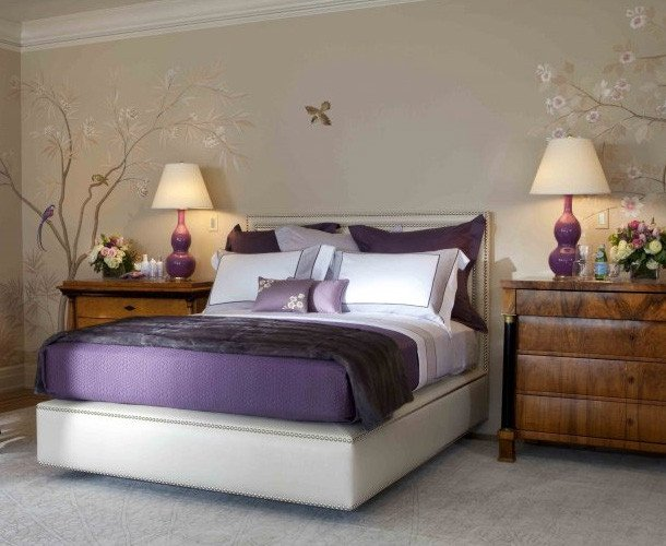 Purple Wall Decor for Bedrooms Luxury Purple Bedroom Decor Ideas with Grey Wall and White Accent Home Interior and Decoration