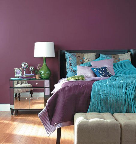 Purple Wall Decor for Bedrooms New Bedroom Décor In Purple