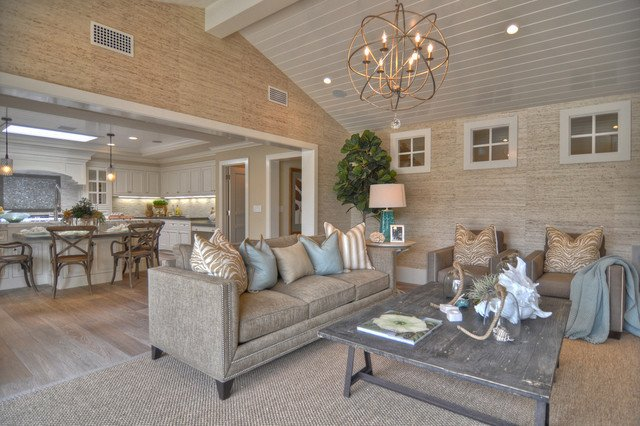 Ranch House Living Room Decorating Ideas Elegant 1512 Dolphin Terrace Beach Style Living Room Los Angeles by Spinnaker Development