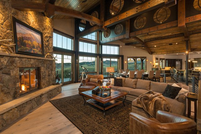 Ranch Style Living Room Ideas Beautiful Ranch Home at Marabou Rustic Living Room Denver by Wagner Design Studio