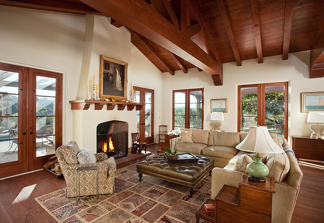 Ranch Style Living Room Ideas Lovely Hope Ranch Spanish Style Custom Home Family Room Mediterranean Living Room Santa Barbara
