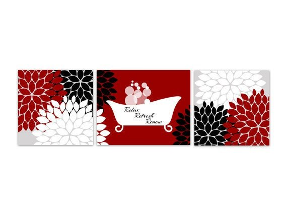 Red and Black Bathroom Decor Elegant Bathroom Wall Art Red and Black Bathroom Decor Relax Refresh