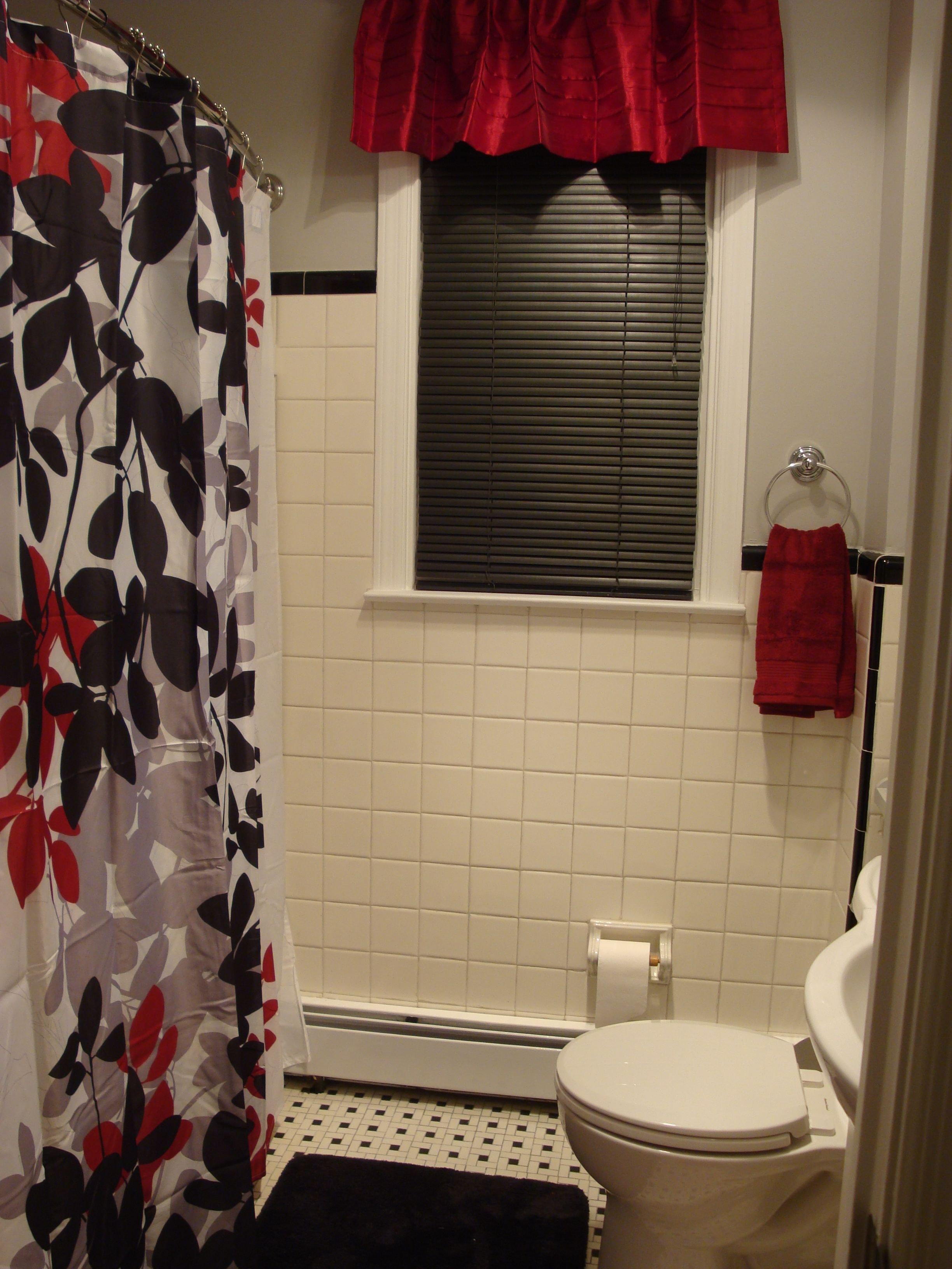 Red and Black Bathroom Decor Luxury Black Red Gray & White Bathroom I Love It Bathroom