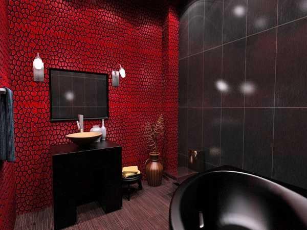 Red and Black Bathroom Decor Unique Black Bathroom Fixtures and Decor Keeping Modern Bathroom Design Elegant