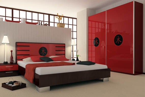 Red and Black Bedroom Decor Beautiful Red and Black Bedroom Design Home Decorating Ideas