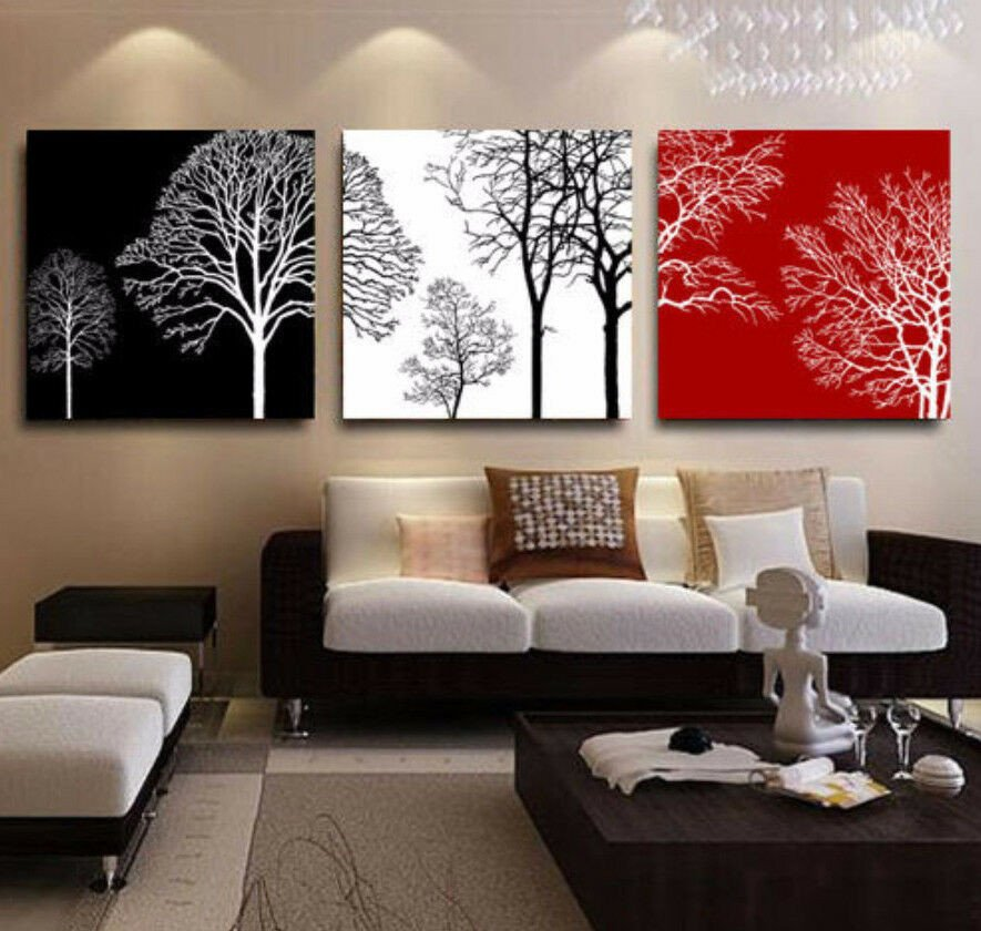 Red and Black Home Decor Awesome Framed Home Decor Canvas Print Painting Wall Art White Red Black Tree House